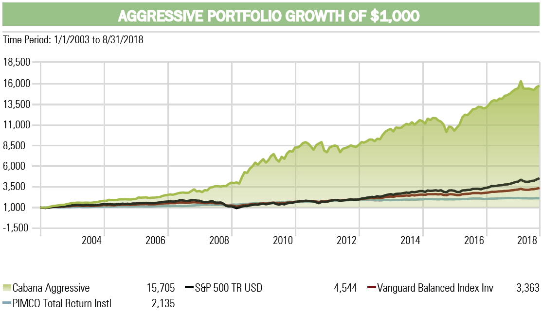 Aggressive Investment Portfolio Performance Cabana